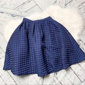 Gracia quilted navy circle skirt